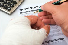 Completing work injury form