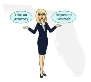 Florida hire attorney self represent