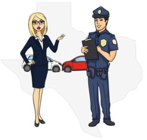 Texas police at accident