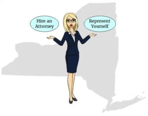 New York hire attorney self represent