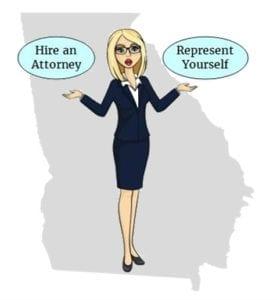 Georgia hire attorney self represent
