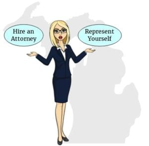 Michigan hire attorney self represent