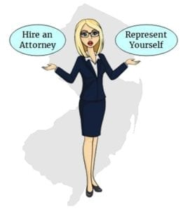 New Jersey hire attorney self represent