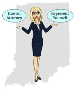 Indiana hire attorney self represent