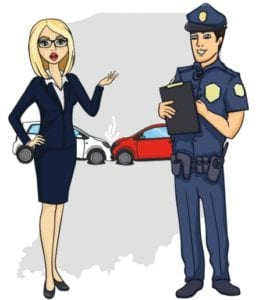 Indiana accident role of police