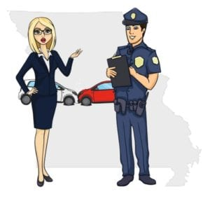 Missouri police at accident