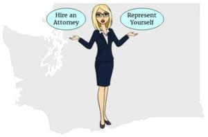washington hire attorney represent yourself