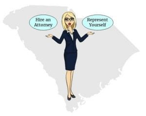 south carolina retain attorney represent self