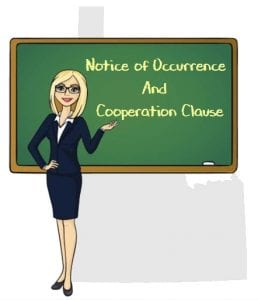 Idaho notice occurrence cooperation clause