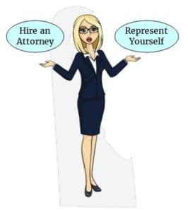 Delaware hire attorney self represent
