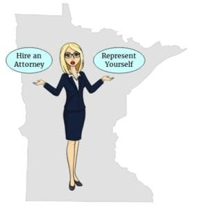 Minnesota hire attorney self represent