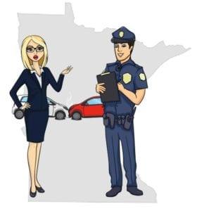 Minnesota police accident scene