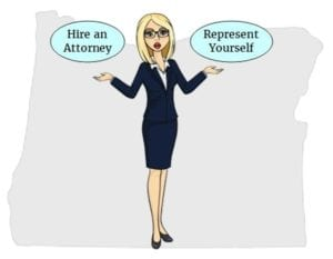 Oregon hire attorney self represent