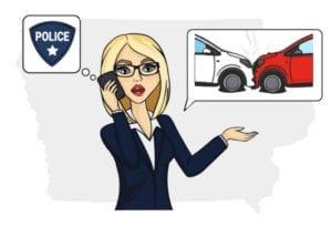 Iowa accident call police