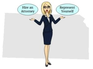 Kansas hire attorney self represent