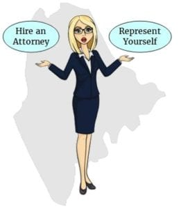 Maine hire attorney self represent