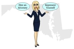 Maryland hire attorney self represent