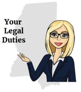 Mississippi accident legal duties