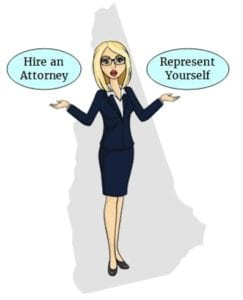 New Hampshire hire attorney self represent