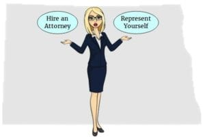 North Dakota hire attorney self represent