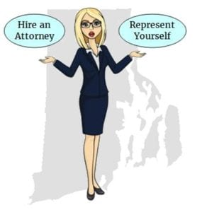 Rhode Island hire attorney self represent