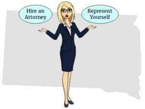 South Dakota hire attorney self represent