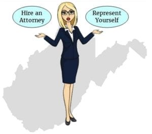 West Virginia hire attorney self represent
