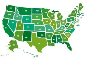 Green US map