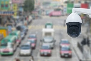 CCTV camera placed on road