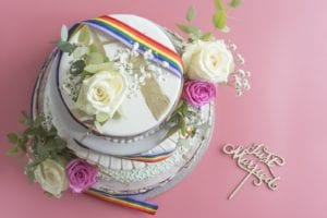 LGBTQ wedding cake