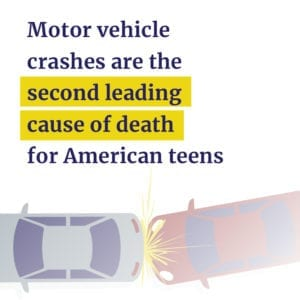 Car crashes are 2nd leading cause of teen deaths