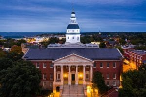 Image of the Maryland State House in Annapolis
