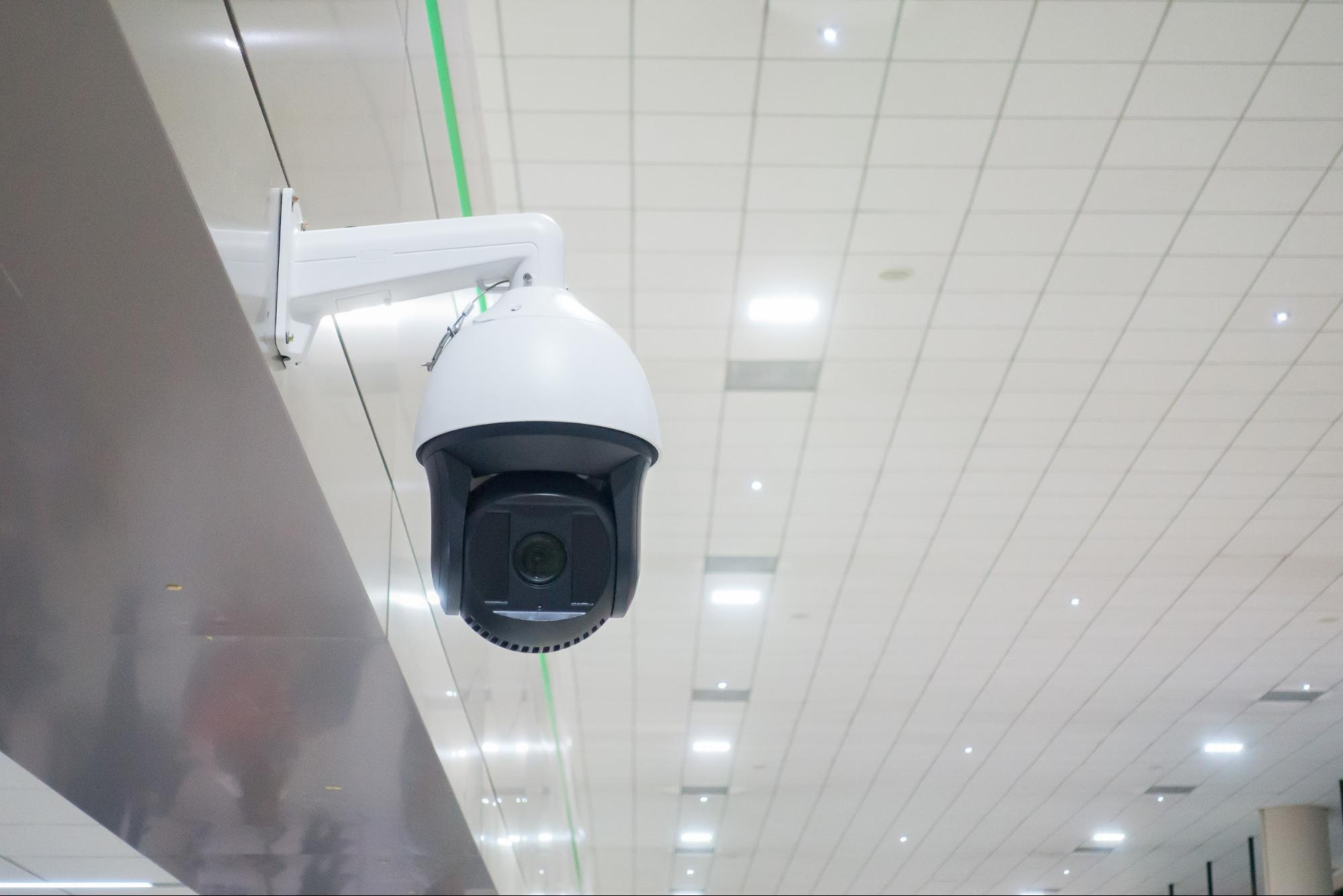 CCTV camera inside a building