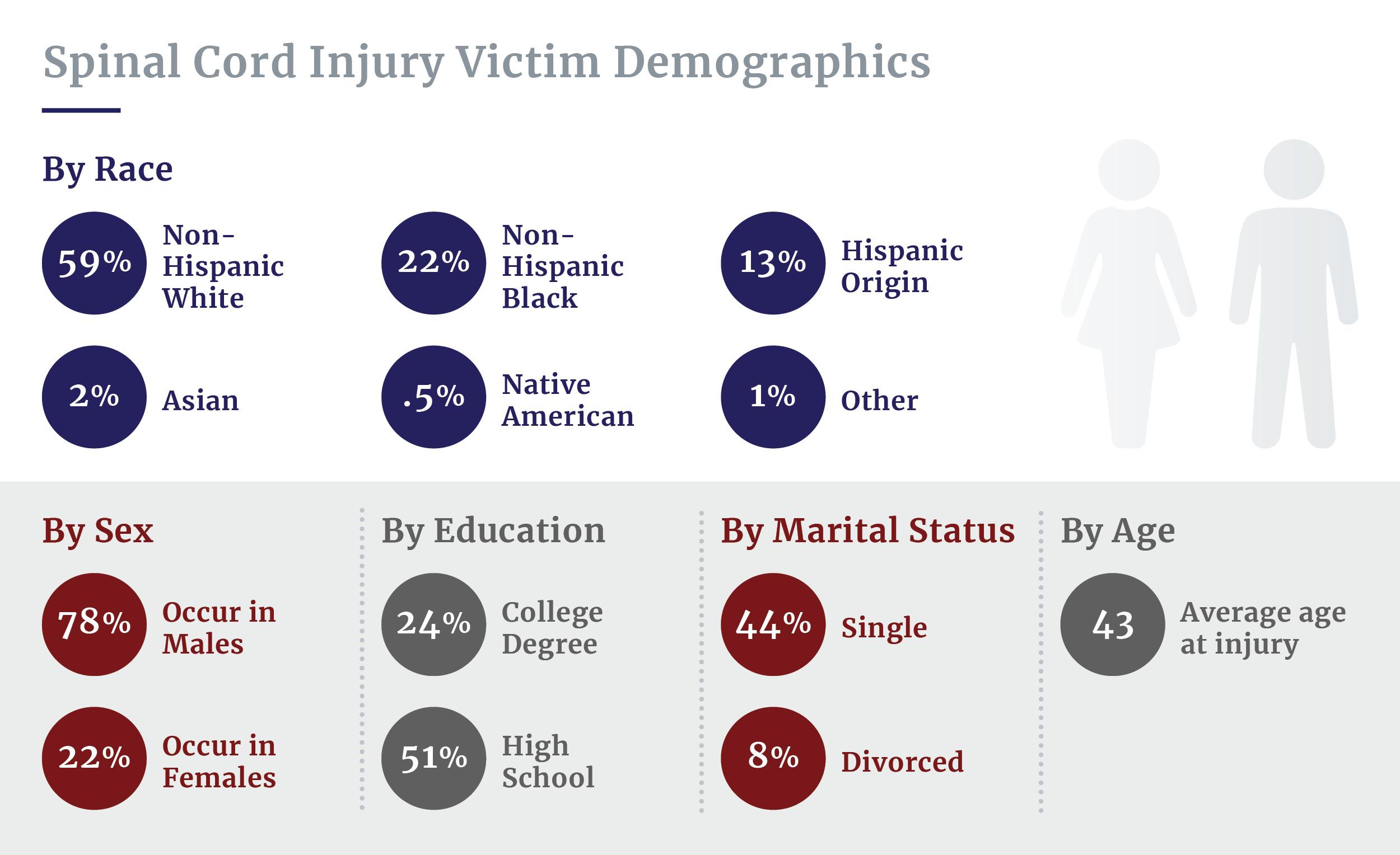 Spinal cord injury victim demographics
