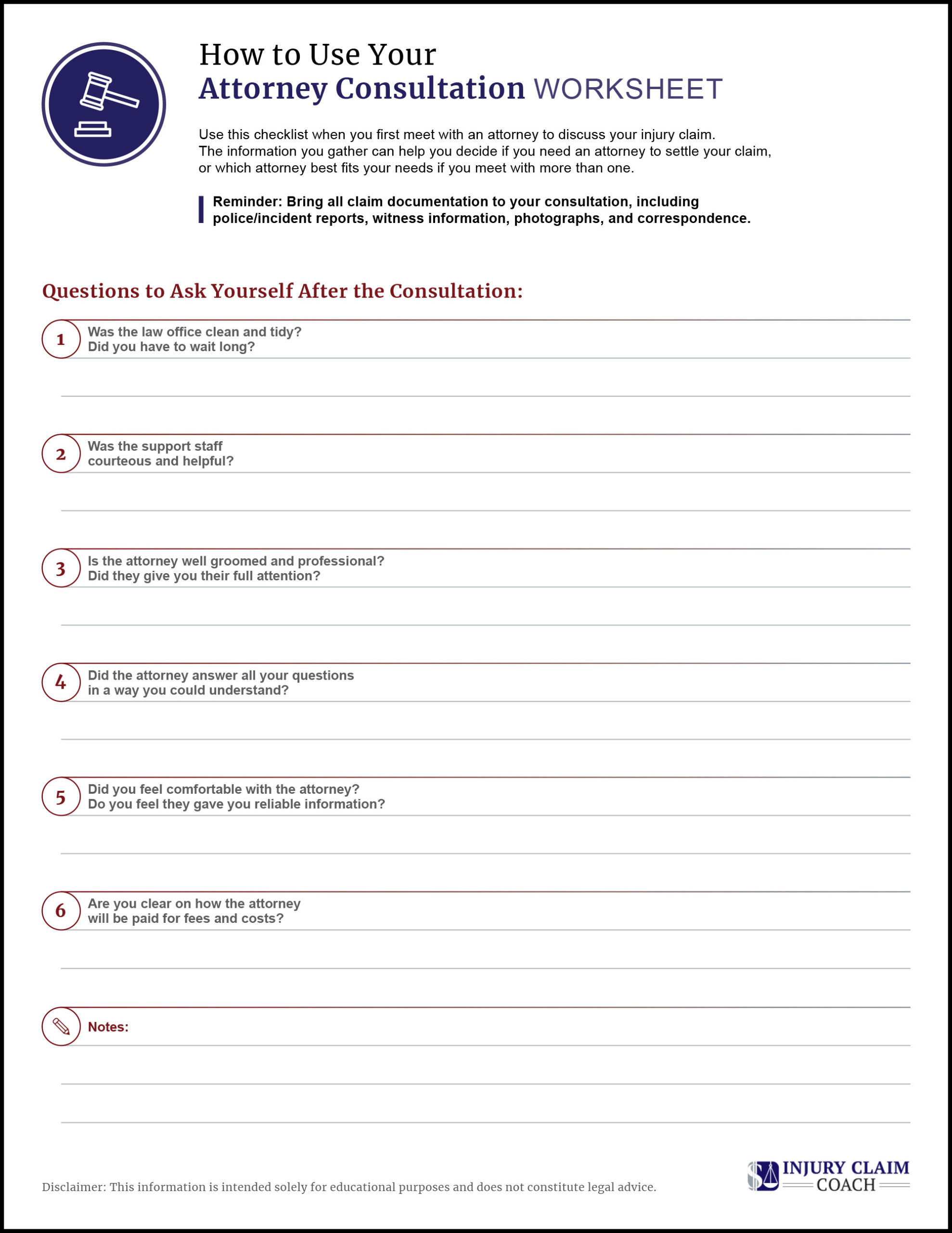 Choosing Attorney Checklist page 2