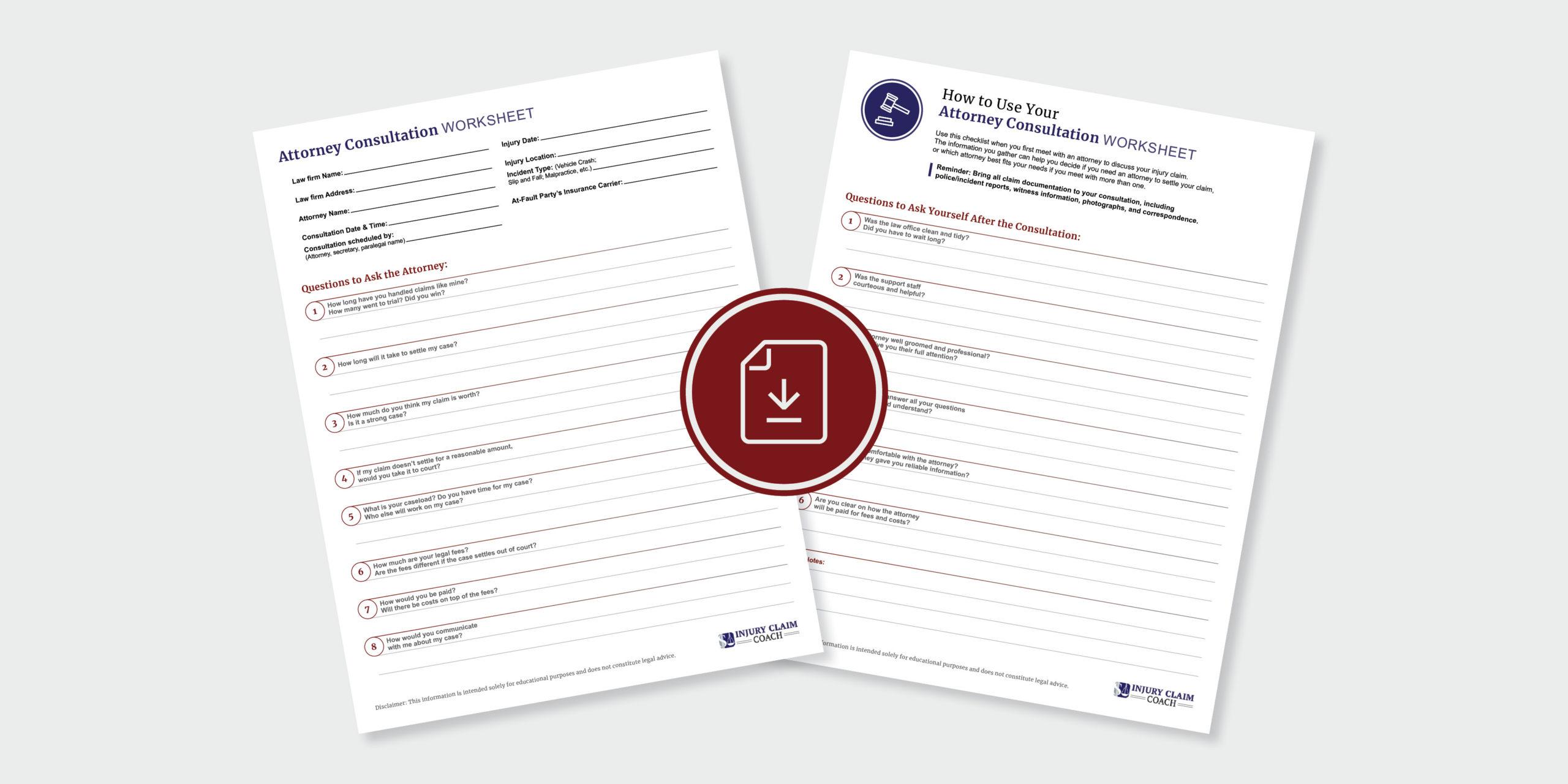 Checklist for Choosing Attorney