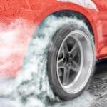 burnout tire