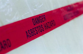 danger asbestos hazard tape